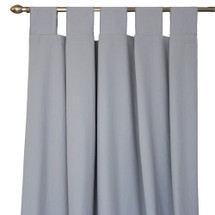 Solid grey long drapes