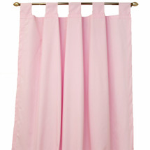 Plain pink long drapes