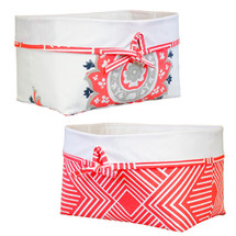 Coral all fabric storage basket