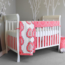 CORALEE Crib Bedding Set (CLASSIC) with Reversible Crib Rail Protector