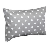 RIO Dark Dot Lumbar Nursery Pillow