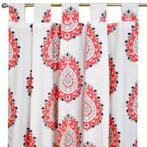 Coral Tab top drapes