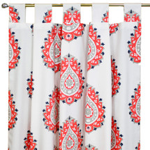 Coral Tab top drapes