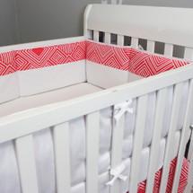 Coral crib bumper pad