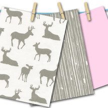 Grey Deer with Pink FREE SWATCHES