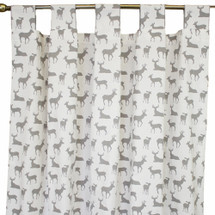 grey deer tab top drapes