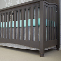 "crib sheet and 17"" long dust ruffle"