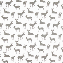 GREY DEER Deer Fabric