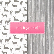 GREY DEER Fabric Crafting Bundle