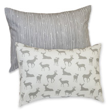 GREY DEER Decor Nursery Pillow - Lumbar Style