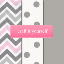 CHEVRON PINK Fabric Crafting Bundle