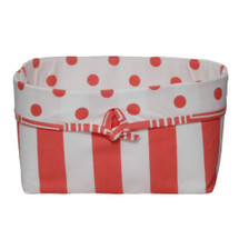 Coralee Soft Nursery Basket -- Stripes
