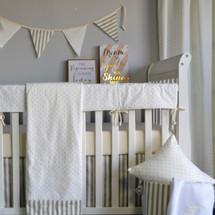 "STARLET ""Classic"" --  Smart Set Baby Crib Bedding  (blanket, skirt, sheet & rail protector)"