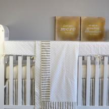 """STARLET """"Premium"""" Smart Set Crib Bedding (Blanket, Skirt, Sheet & Rail Protector)"""