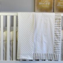 "STARLET ""Premium"" 3PC Crib Bedding Set (Blanket, Skirt & Sheet)"