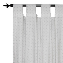 NATURAL STAR Long Nursery Drapes - Tab or Rod Top - Mini Star (Set of 2)