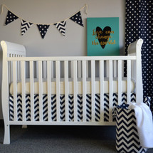 "SIMPLY NAVY ""CLASSIC"" 2Pc Crib Bedding Set (Bed Skirt & Lifetime Crib Sheet)"