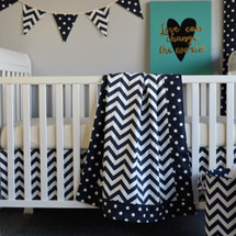 SIMPLY NAVY Baby Blanket