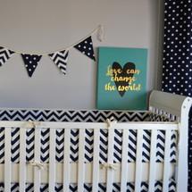SIMPLY NAVY Baby Crib Bumper Pads