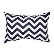 SIMPLY NAVY Lumbar Nursery Pillow - Zig Zag