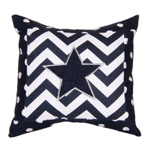 SIMPLY NAVY Star Applique Nursery Pillow