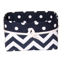 SIMPLY NAVY Soft Nursery Basket - Zig Zag