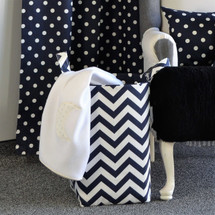 SIMPLY NAVY Soft Nursery Hamper - Zig Zag