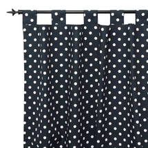 SIMPLY NAVY Long Nursery Drapes - Tab or Rod Top - Lite Dots (Set of 2)