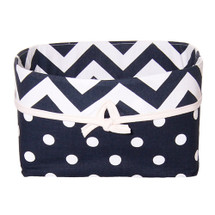SIMPLY NAVY Soft Nursery Basket - Lite Dots
