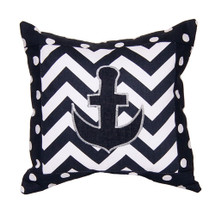 SIMPLY NAVY Anchor Applique Nursery Pillow
