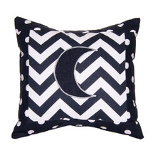 SIMPLY NAVY Moon Applique Nursery Pillow