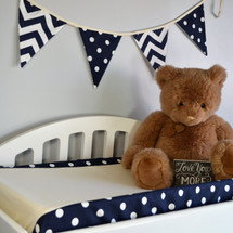 SIMPLY NAVY Baby Change Pad Cover - Lite Dot