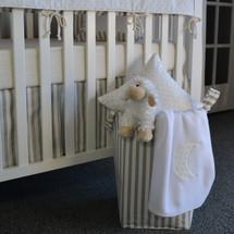 STARLET Soft Nursery Hamper - Tan Stripe