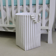 STARLET Soft Nursery Hamper - Tan Stripe