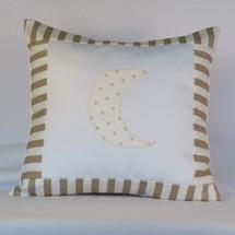 Starlet Decor Nursery Pillow - Moon Applique