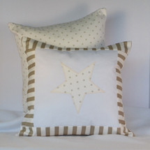 Starlet Decor Nursery Pillow - Star Applique