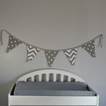Simply Grey Varsity Flag Wall Art