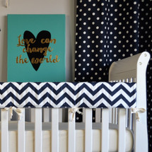 SIMPLY NAVY Baby Crib Rail Protector