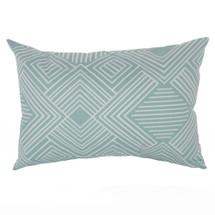 GROOVY GIRAFFE Lumbar Nursery Pillow - Teal Maze