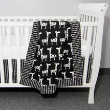 "GROOVY GIRAFFE ""Classic"" 3PC Baby Crib Bedding Set (Blanket, Crib Skirt & Crib Sheet)"