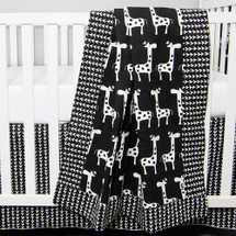 "GROOVY GIRAFFE ""Classic"" Baby Crib Blanket"