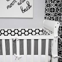 GROOVY GIRAFFE Baby Crib Bumper Pads