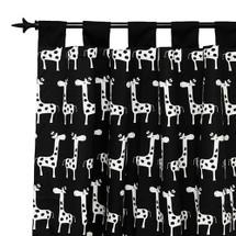 GROOVY GIRAFFE Long Nursery Drapes - Tab Top / or Rod Pocket - Giraffes (Set Of 2)