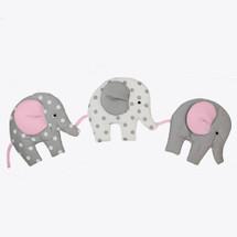 MOXY PINK Nursery Wall Art - Elephant Parade