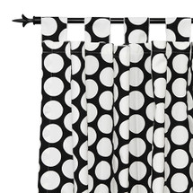 GROOVY GIRAFFE Long Nursery Drapes - Tab Top / or Rod Pocket - Large Dot (Set Of 2)