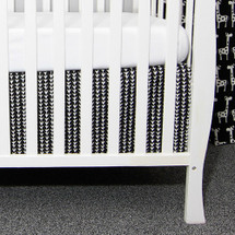 GROOVY GIRAFFE Crib Skirt