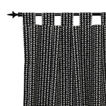 MIDNIGHT Long Nursery Drapes - Tab Top / Or Rod Pocket - Vine (Set Of 2)