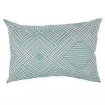 AQUILA Lumbar Nursery Pillow - Teal Maze
