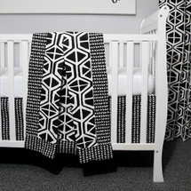 "MIDNIGHT ""Classic"" 3PC Baby Crib Bedding Set (Blanket, Crib Skirt & Crib Sheet)"