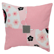GROOVY GIRAFFE Floral Pink Decor Nursery Pillow - Patch Style